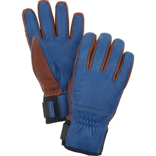 HESTRA OMNI 5 FINGER ROYAL BLUE/BROWN