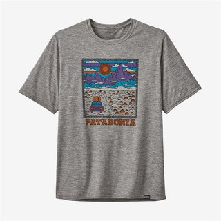 Patagonia Mens Capilene® Cool Daily Graphic Shirt Summit Road: Feather Grey
