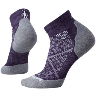 SMARTWOOL DAMEN SOCKEN PHD RUN LIGHT ELITE LOW CUT MOUNTAIN PURPLE