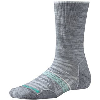SMARTWOOL DAMEN SOCKEN  PhD OUTDOOR LIGHT CREW LIGHT GREY HEATHER