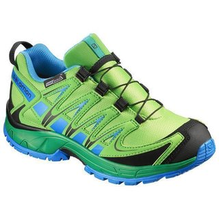 detailed look 427b1 dadb9 SALOMON XA PRO 3D CSWP K TONIC GREEN ATHLETIC GREEN X UNION BLUE