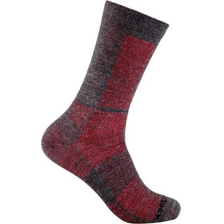 WRIGHT SOCKS COOLMESH II CREW GREY/RED