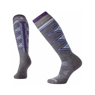 SMARTWOOL WOMEN PHD SKI LIGHT PATTERN MEDIUM GRAY HEATHER