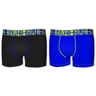 FREEGUN UNDERWEAR BLACK/BLUE (2STK)
