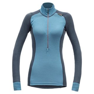 DEVOLD WOOL MESH DAMEN HALF ZIP NECK ORION