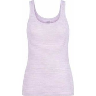 ICEBREAKER WOMENS SIREN TANK BLUSH HEATHER/STRIPE