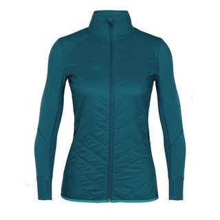 ICEBREAKER WOMENS DESCENDER HYBRID JACKET KINGFISHER/ARTIC/TEAL