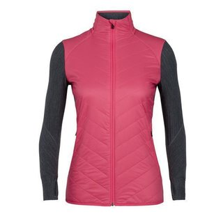 ICEBREAKER WOMENS DESCENDER HYBRID JACKET JET HEATHER/PRISM