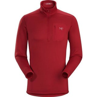 ARCTERYX RHO ZIP NECK HERREN RED BEACH