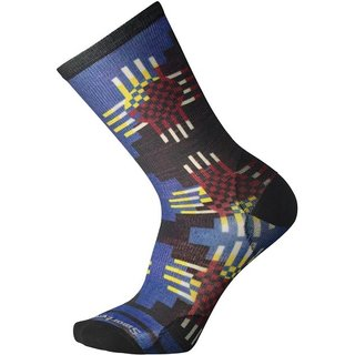 SMARTWOOL MEN WAVE GEO CURATED CREW BRIGHT BLUE