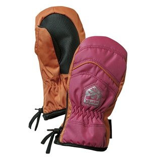 HESTRA BABY ZIP MITT. FUCHSIA/ORANGE