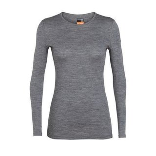 ICEBREAKER WOMENS 200 OASIS LONG SLEEVE CREWE GRITSTONE HEATHER