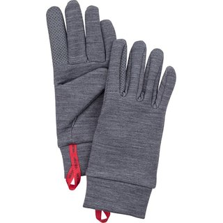 HESTRA TOUCH POINT WARMTH 5 FINGER GREY