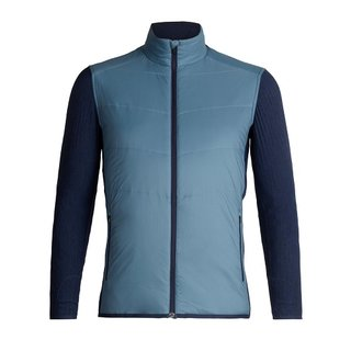 ICEBREAKER MENS DESCENDER HYBRID JACKET GRANITE BLUE/DARK NIGHT HEATHER