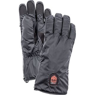 HESTRA HEATED LINER 5 FINGER BLACK