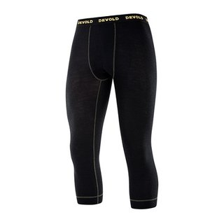 DEVOLD WOOL MESH HERREN 3/4 LONG JOHNS BLACK