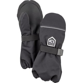 HESTRA JUNIOR WOOL TERRY MITT BLACK