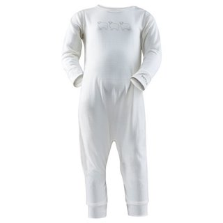DEVOLD BREEZE BABY SLEEPSUIT OFFWHITE