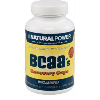 Natural Power BCAA´s Recovery Caps