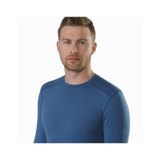 ARCTERYX MENS SATORO AR CREW NECK SHIRT LS LIGHT HECATE